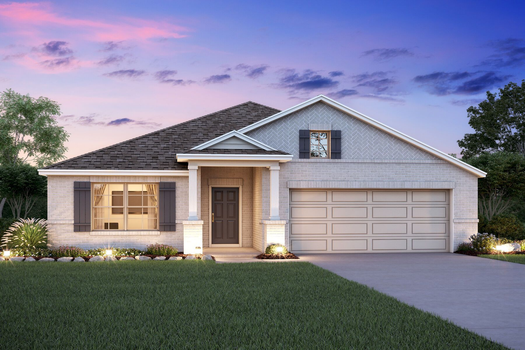 Exterior featured in the Balboa By M/I Homes in Houston, TX