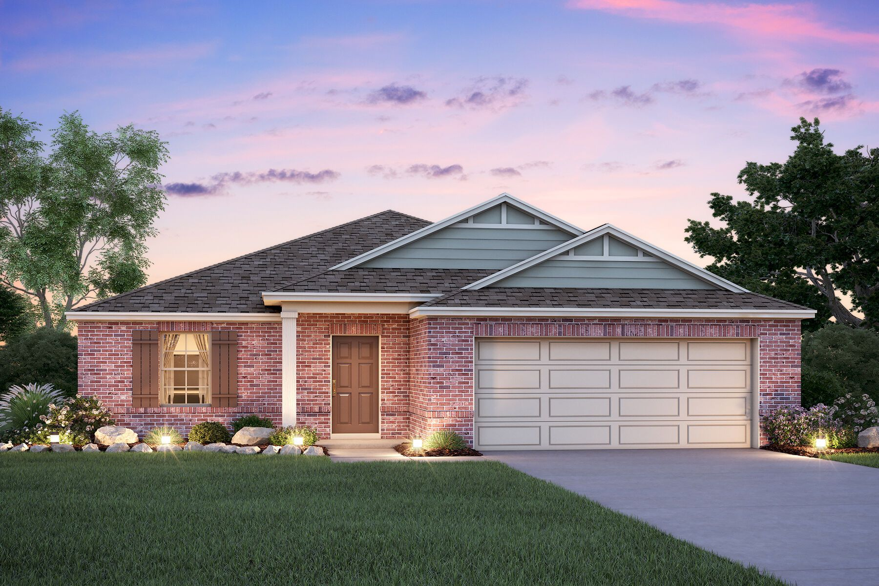 Exterior featured in the Desoto By M/I Homes in Houston, TX