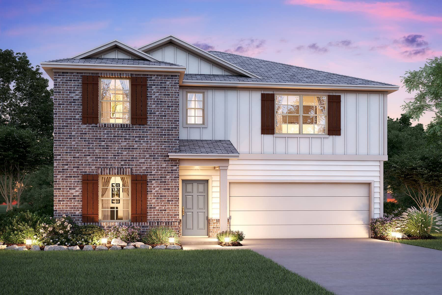 Exterior featured in the Armstrong By M/I Homes in Houston, TX