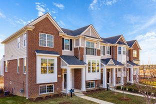 Aria - B End Unit - The Towns at Cherry Hill: Canton, Michigan - M/I Homes