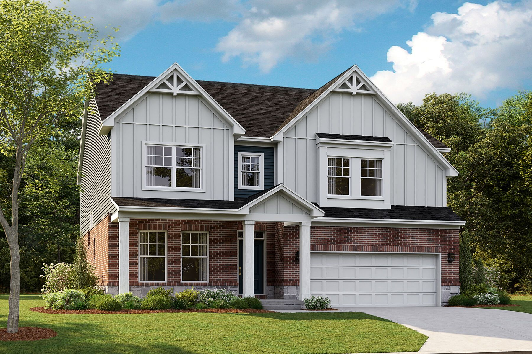 Exterior featured in the Aspen By M/I Homes in Detroit, MI
