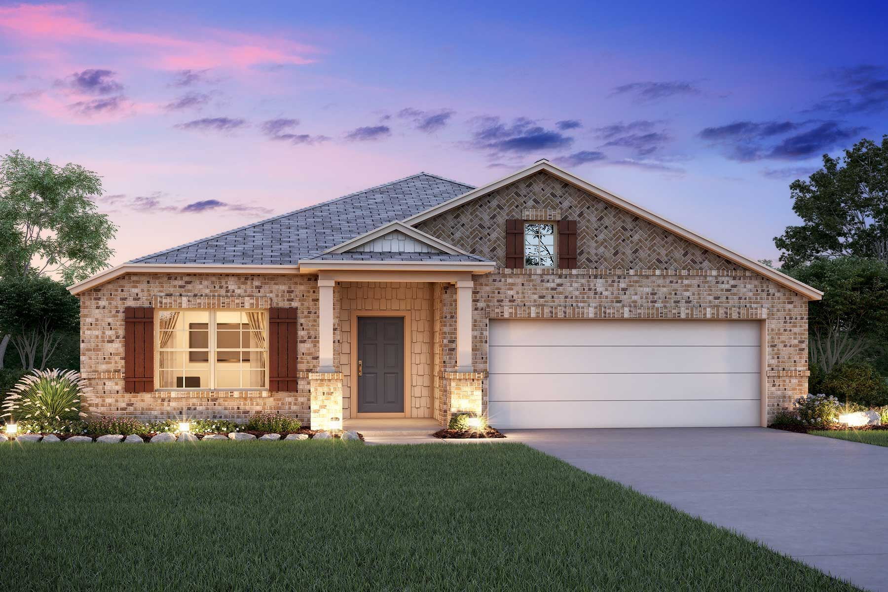 Exterior featured in the Balboa By M/I Homes in San Antonio, TX