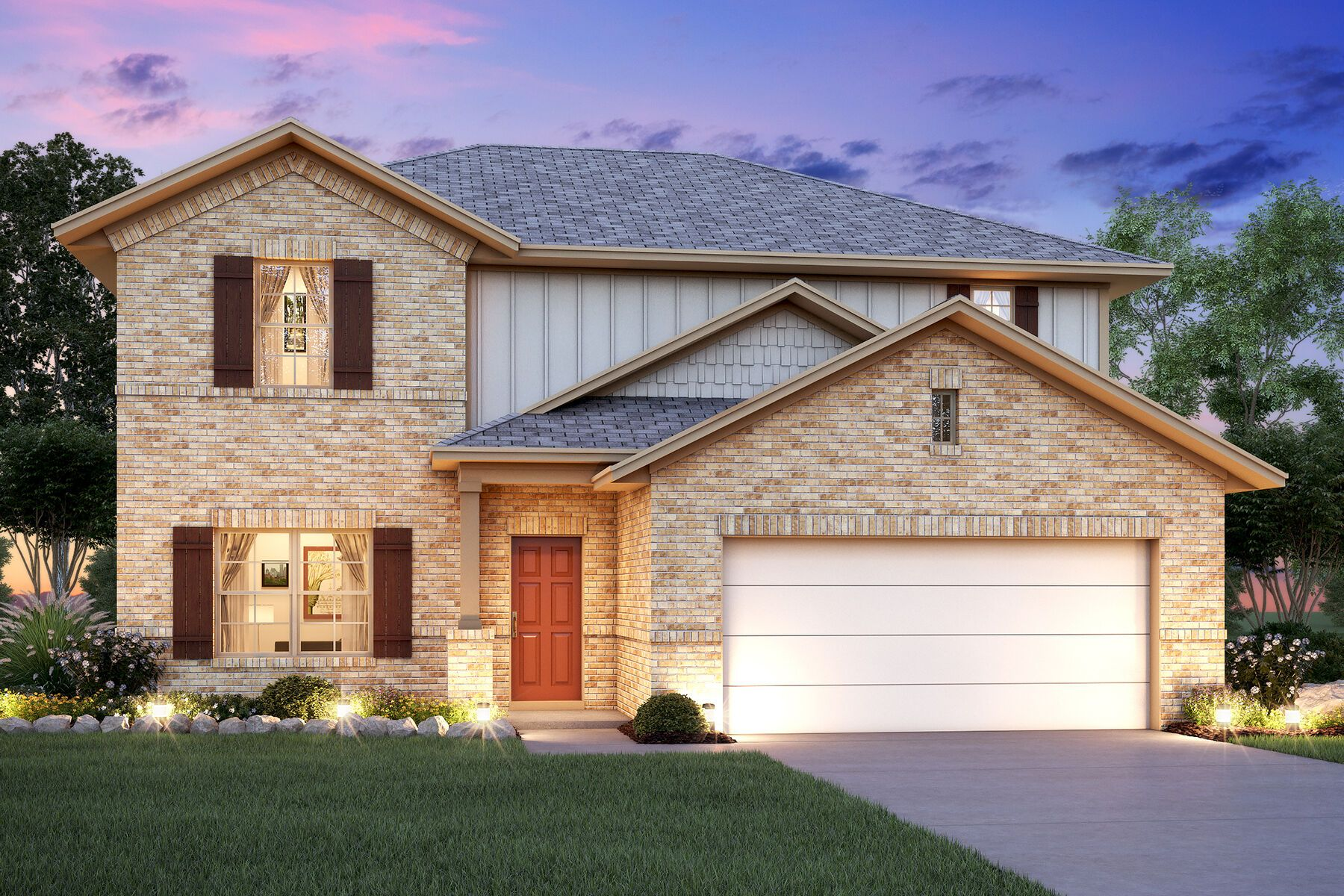 Exterior featured in the Cabot By M/I Homes in San Antonio, TX