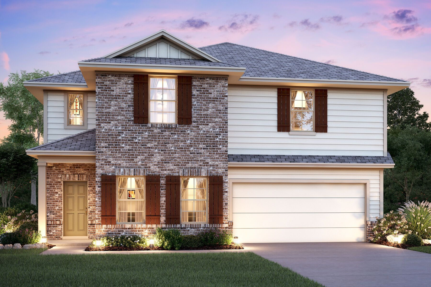 Exterior featured in the Cortez By M/I Homes in San Antonio, TX