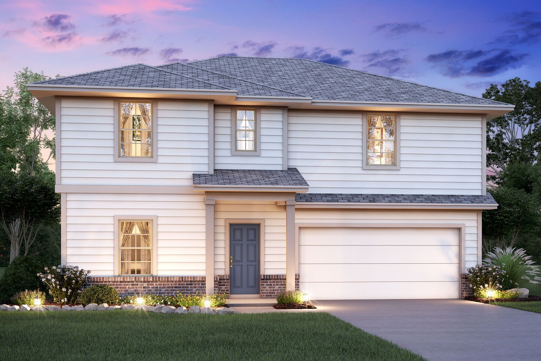 Exterior featured in the Columbus By M/I Homes in San Antonio, TX