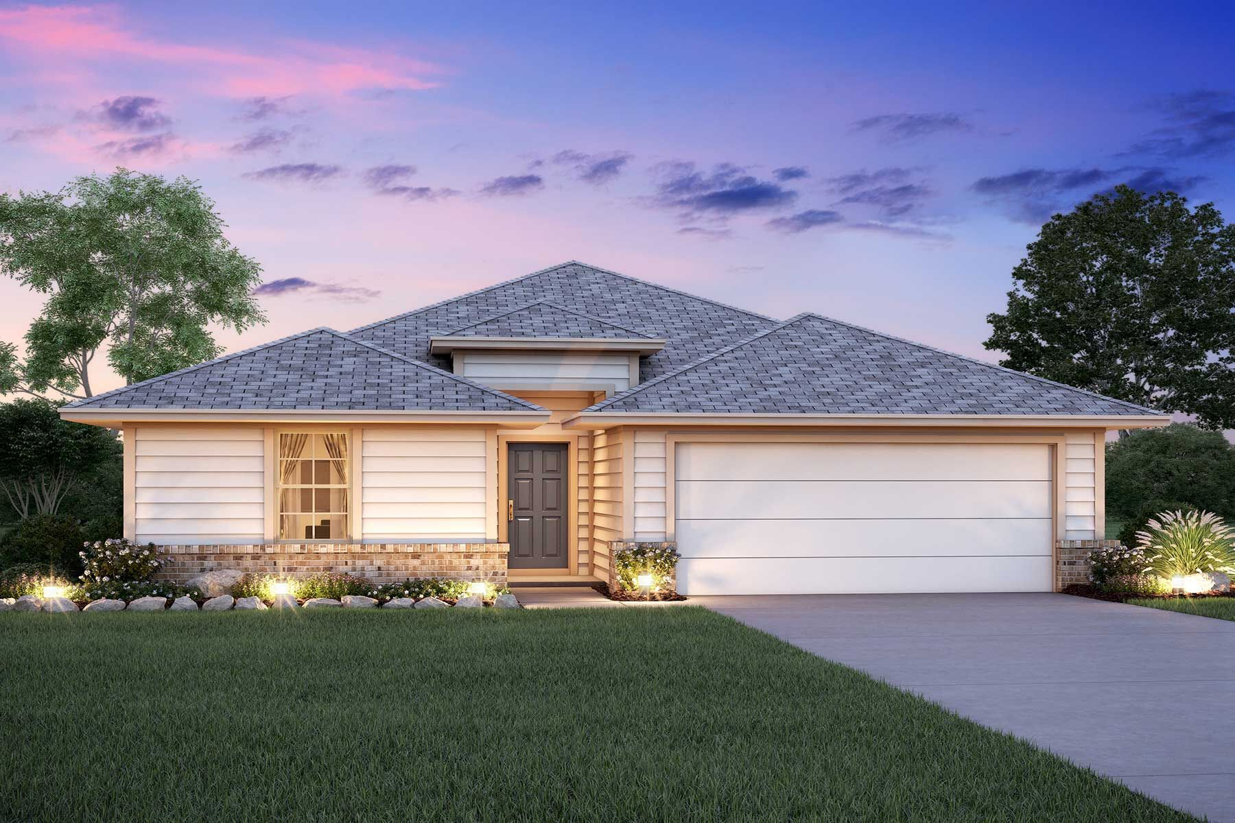 Exterior featured in the Pizarro By M/I Homes in San Antonio, TX
