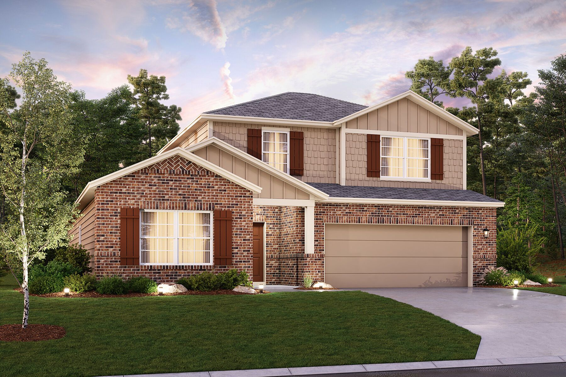Exterior featured in the Barbosa By M/I Homes in San Antonio, TX