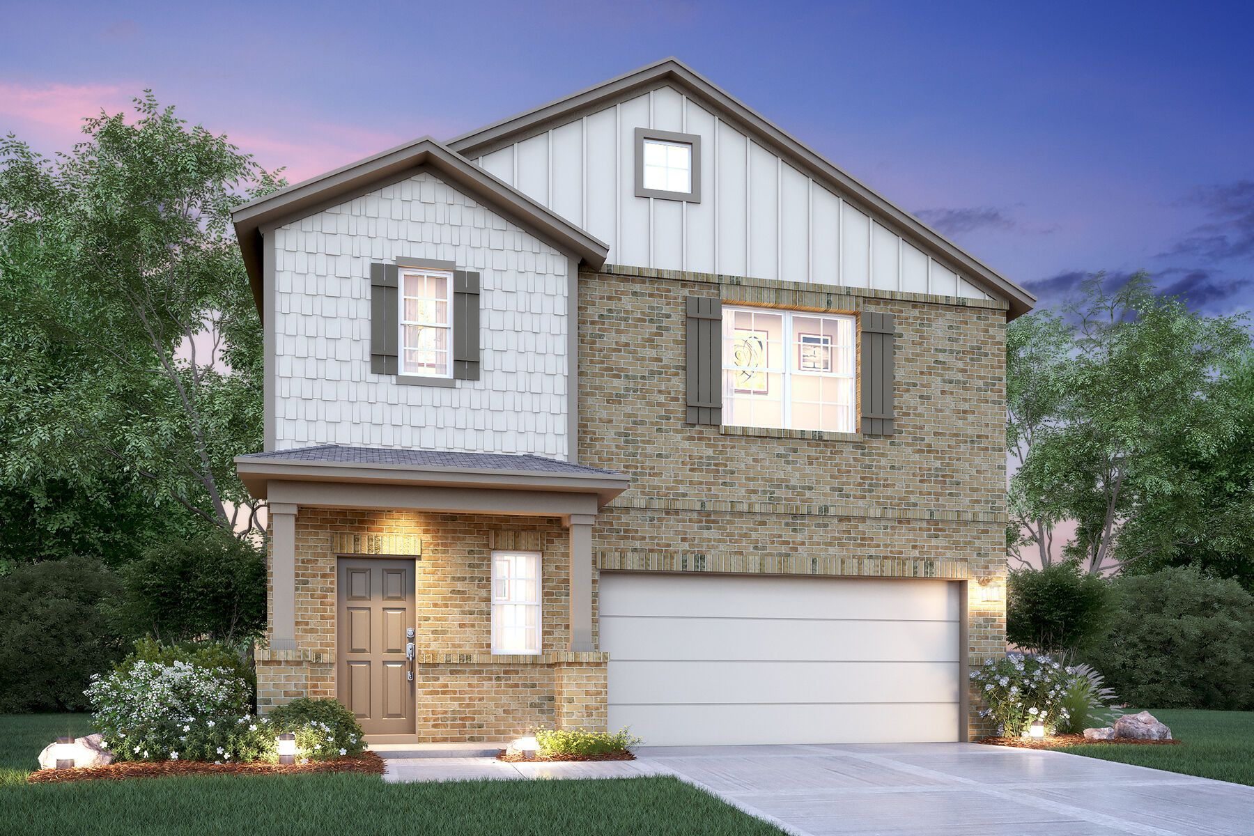Exterior featured in the Dogwood By M/I Homes in San Antonio, TX