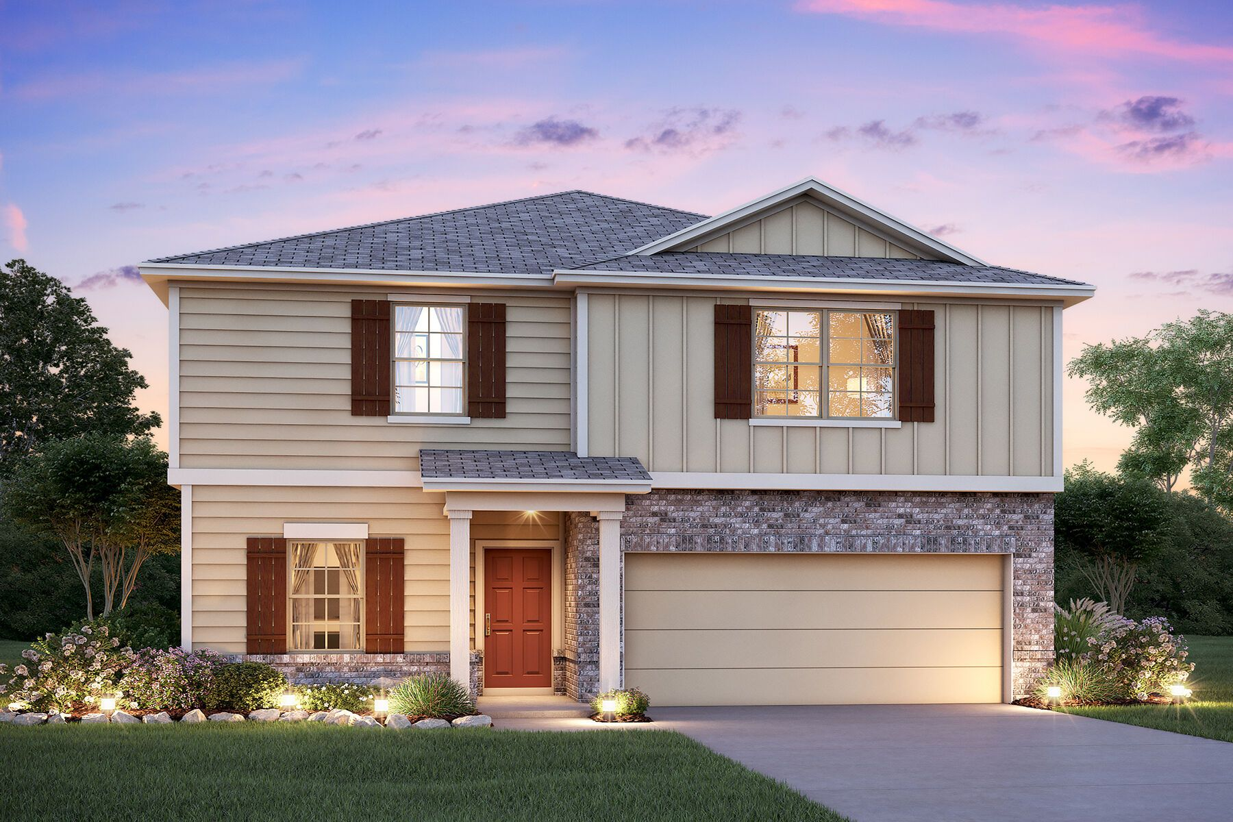 Exterior featured in the Donley By M/I Homes in San Antonio, TX