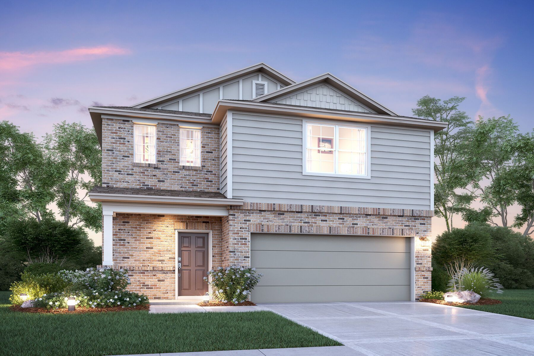 Exterior featured in the Verbena By M/I Homes in San Antonio, TX