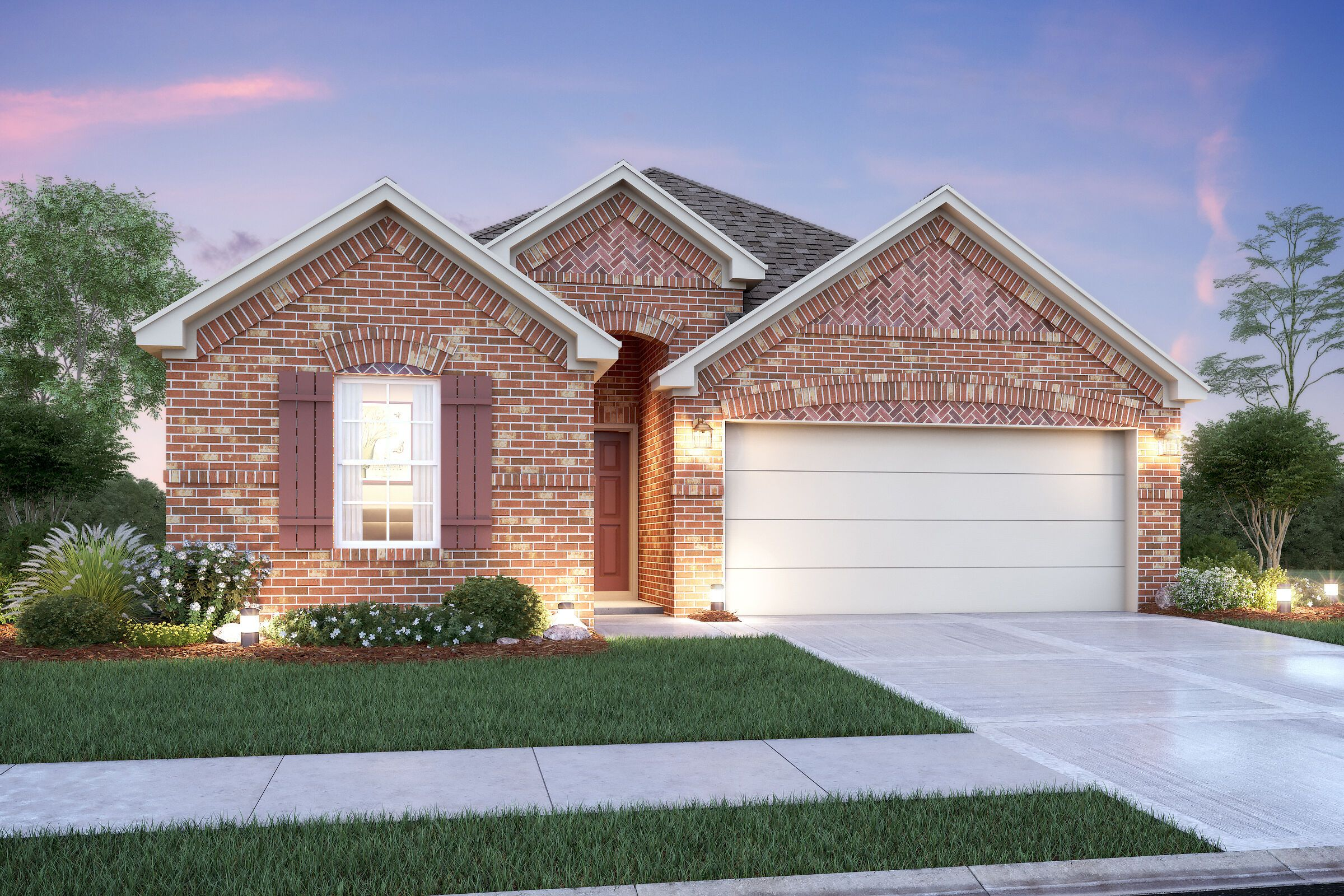 Exterior featured in the Dawson By M/I Homes in Houston, TX
