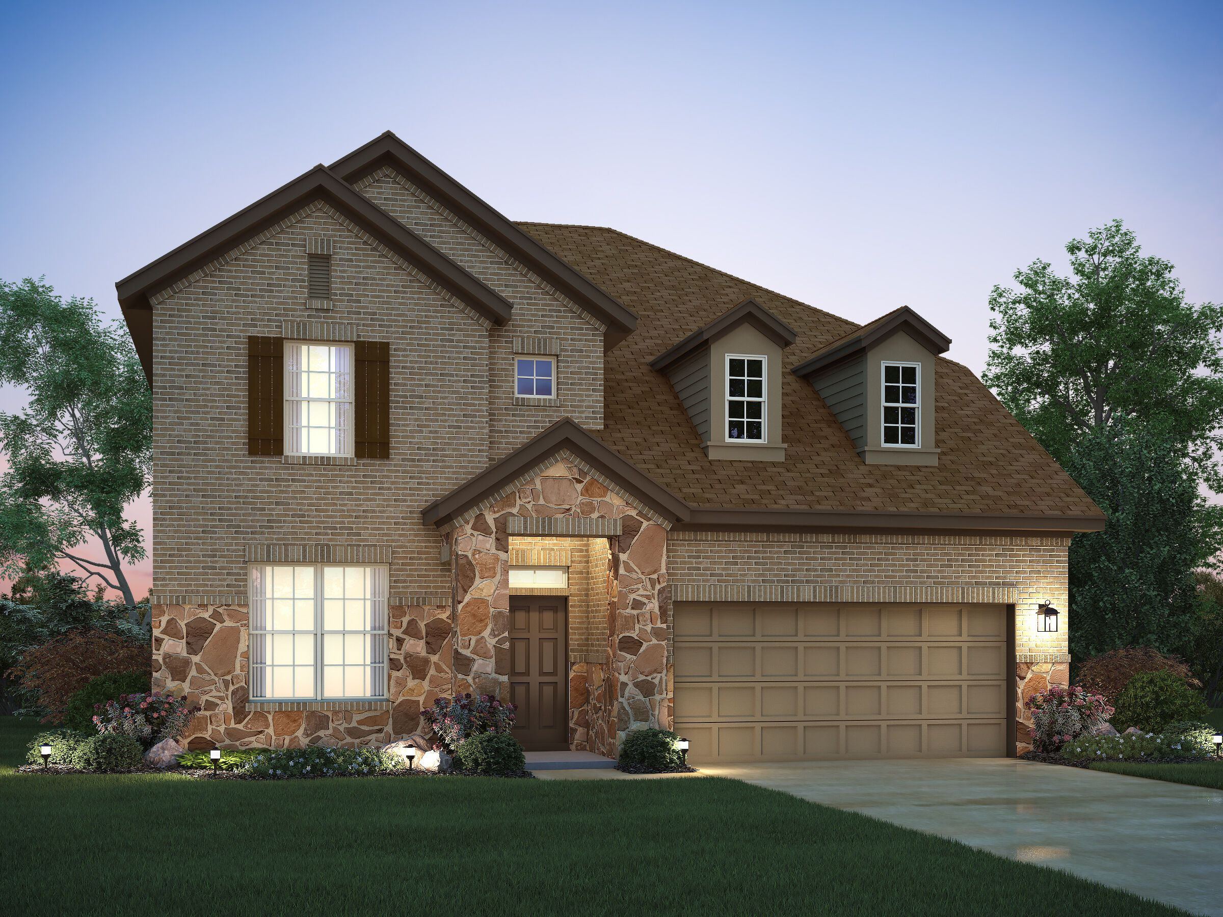 Exterior featured in the Belmont By M/I Homes in Austin, TX