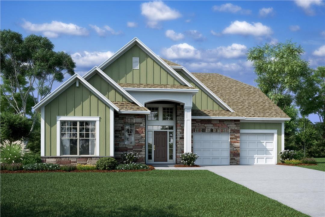 Exterior featured in the Cambridge II By M/I Homes in Charlotte, NC