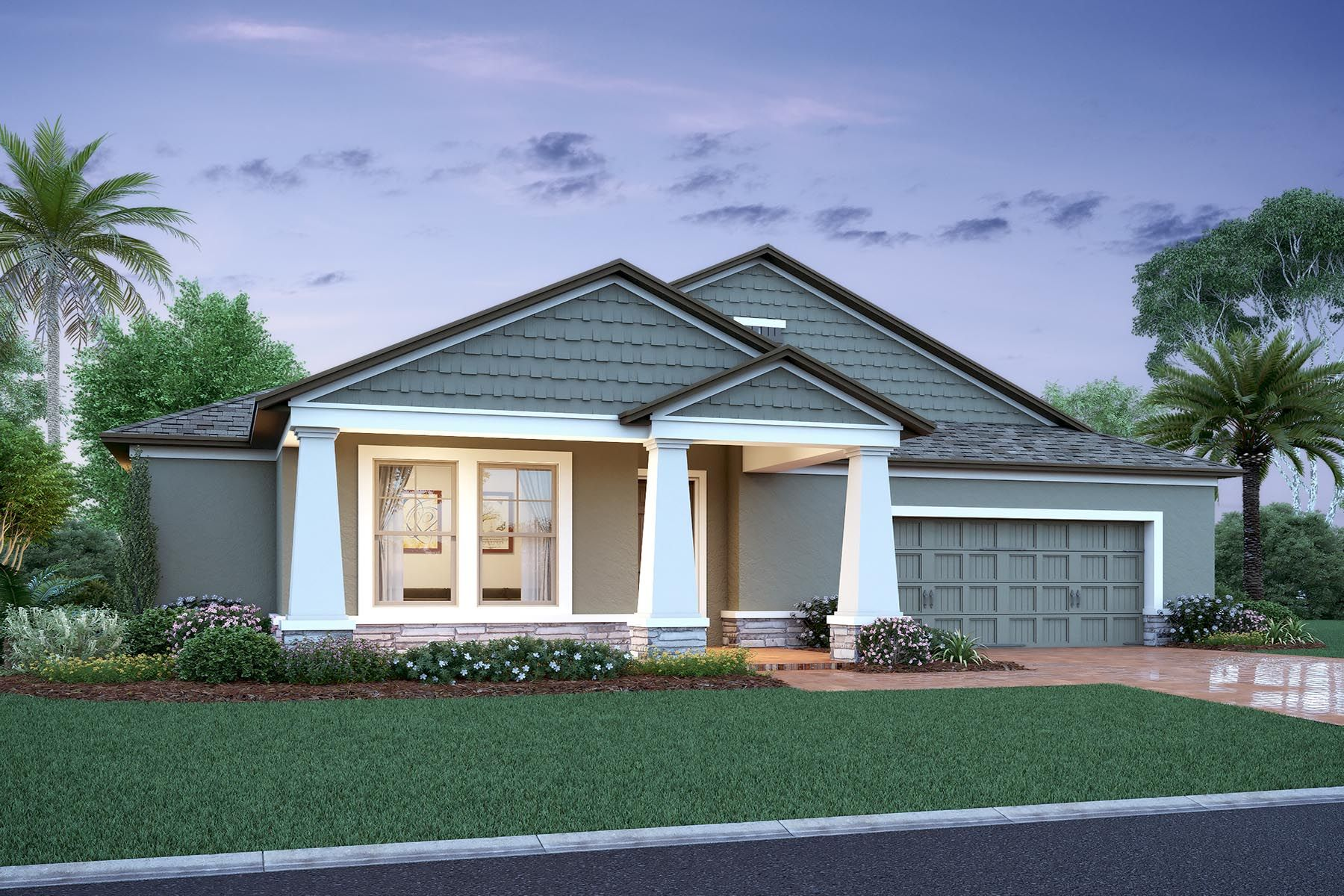 Exterior featured in the Mayfield Fl By M/I Homes in Orlando, FL
