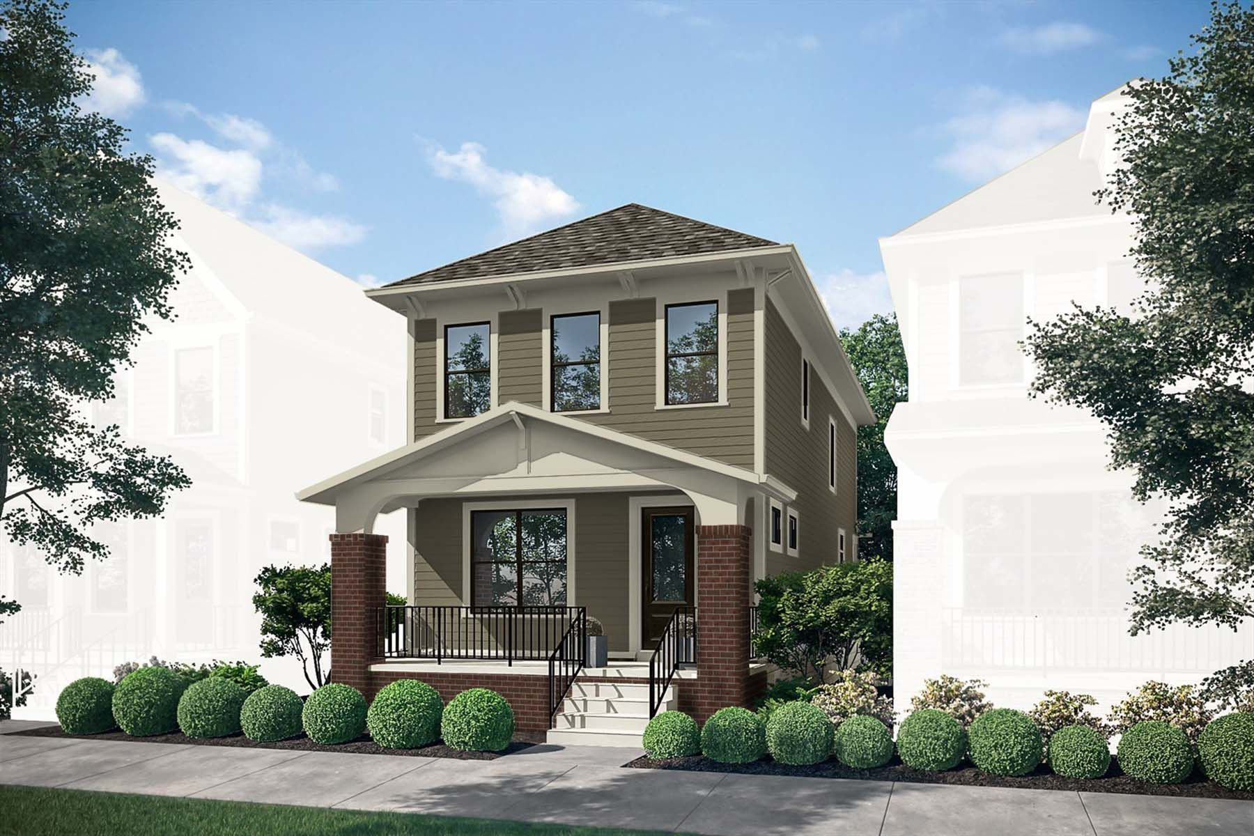Exterior featured in the Dennison By M/I Homes in Columbus, OH