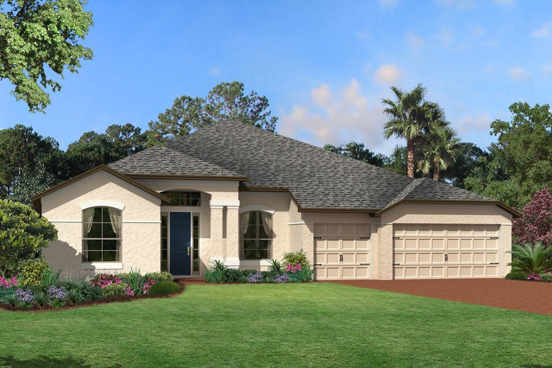 Exterior featured in the Brookhaven Fl By M/I Homes in Orlando, FL