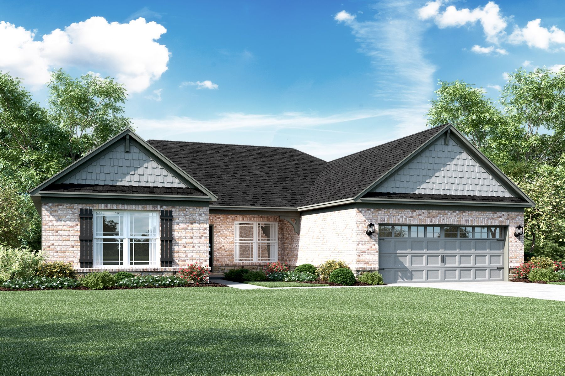 Exterior featured in the Clayton II Slab By M/I Homes in Indianapolis, IN