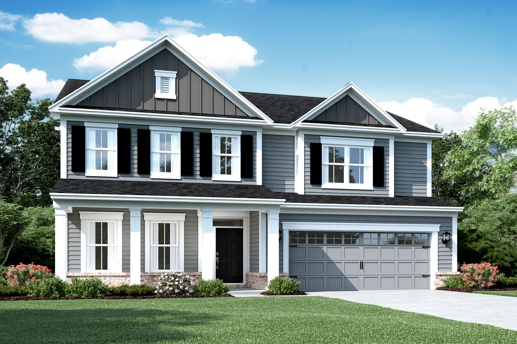 Exterior featured in the Glendale Slab By M/I Homes in Indianapolis, IN