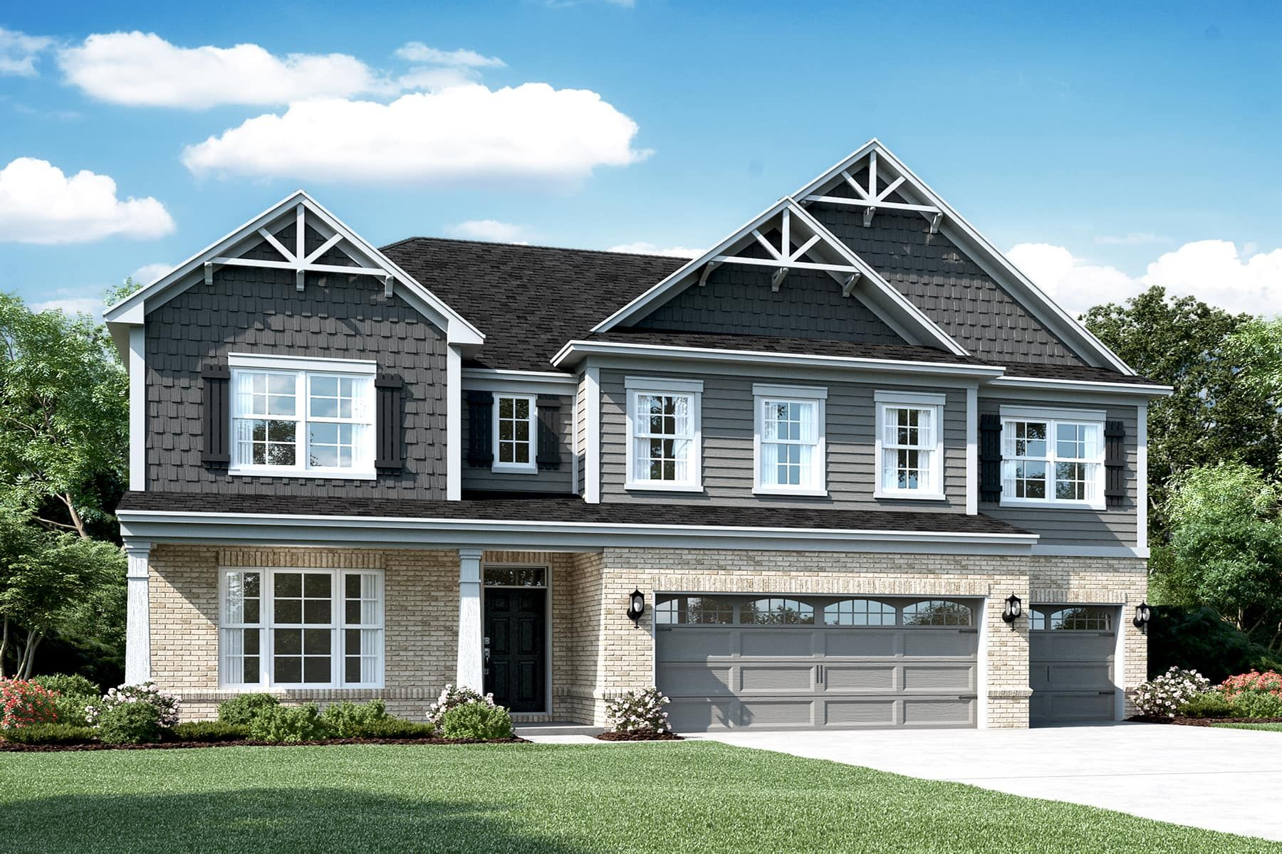 Exterior featured in the Kensington Slab By M/I Homes in Indianapolis, IN