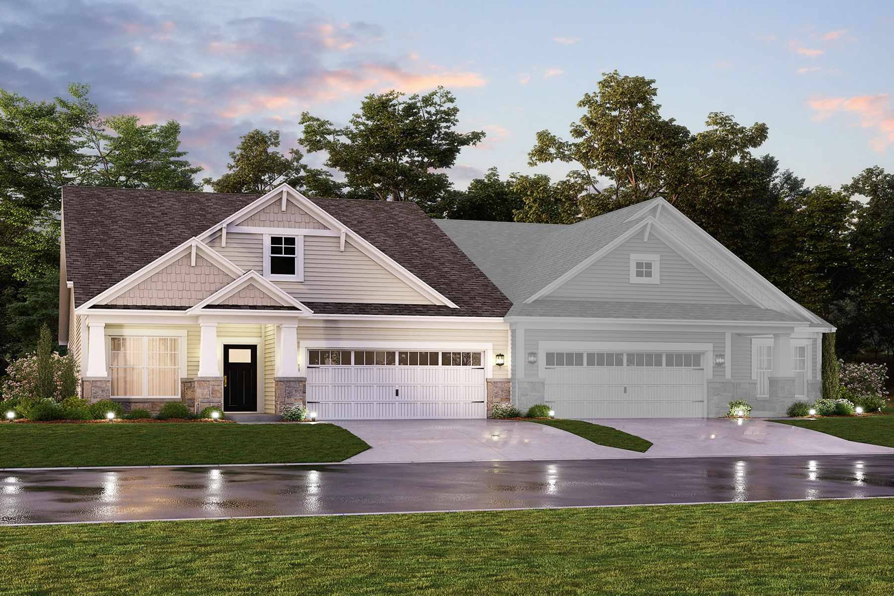 Exterior featured in the Dimora By M/I Homes in Indianapolis, IN