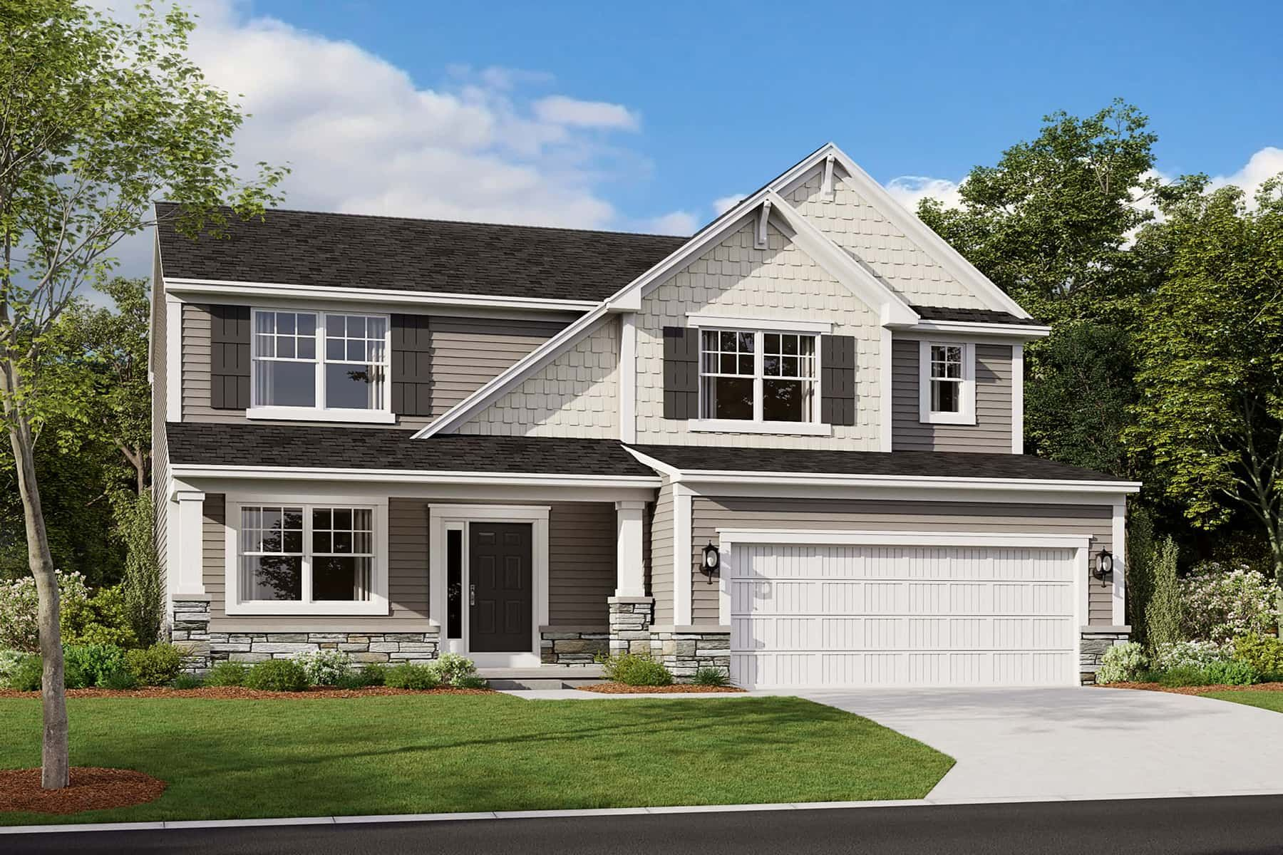 Exterior featured in the Armstrong Slab By M/I Homes in Indianapolis, IN