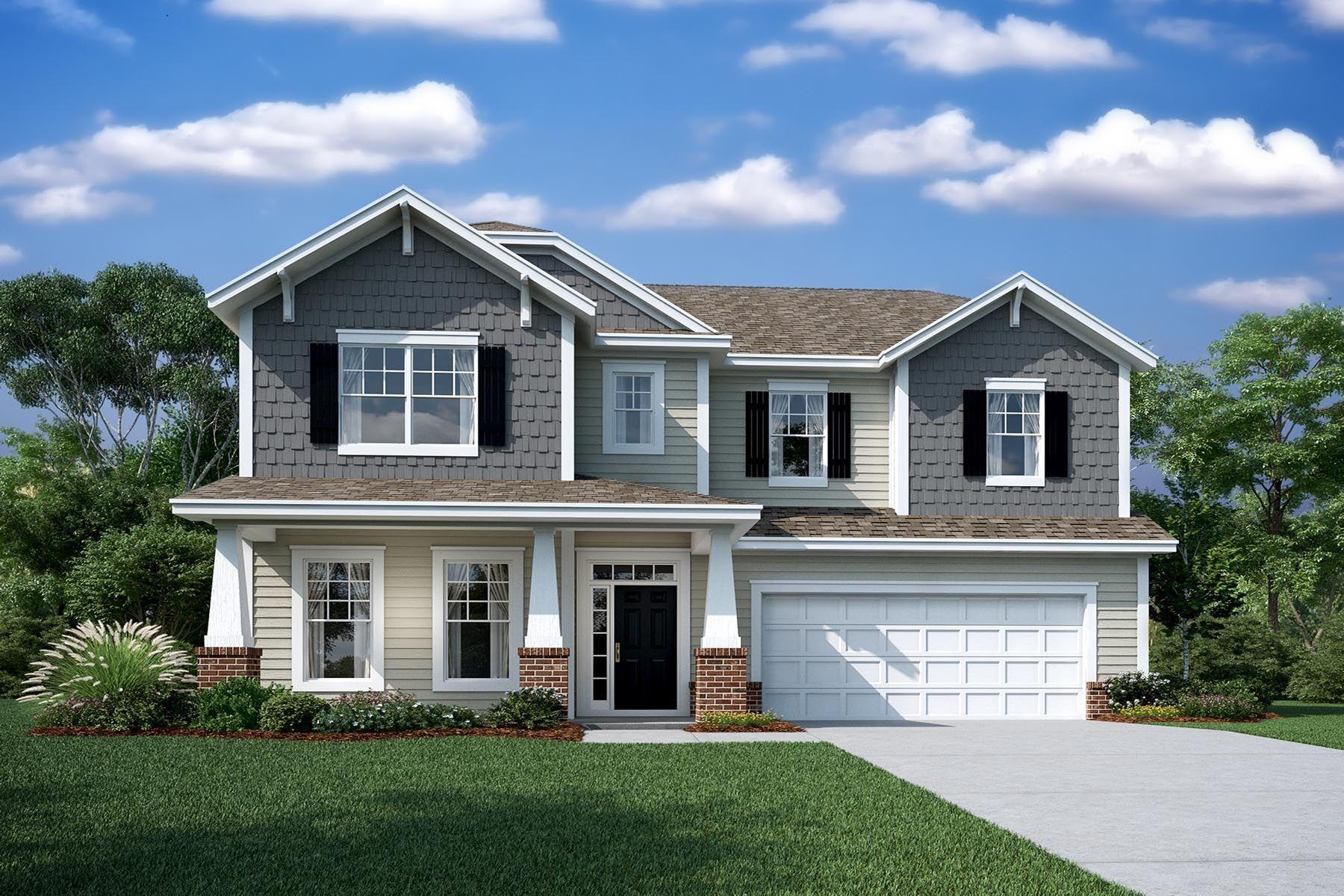 Exterior featured in the Ridgewood By M/I Homes in Charlotte, NC
