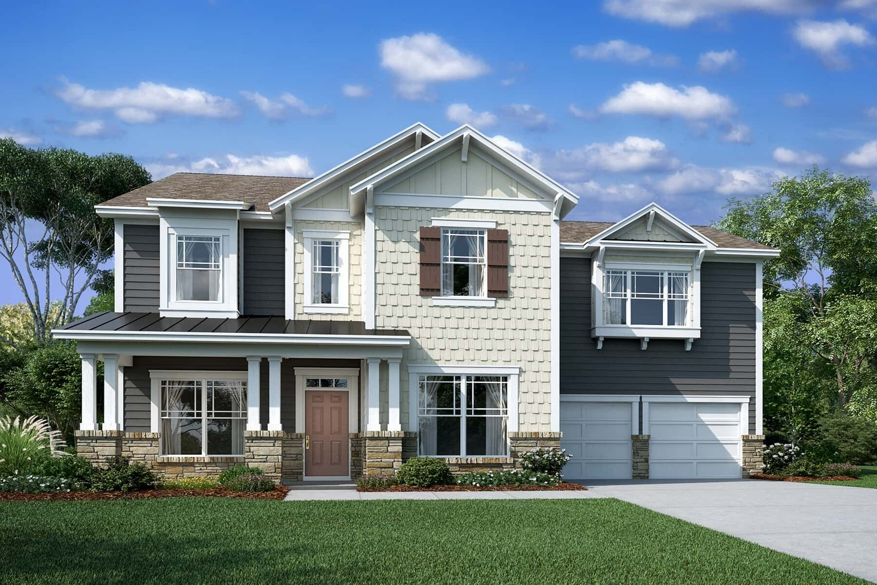 Exterior featured in the Wilson II By M/I Homes in Charlotte, SC