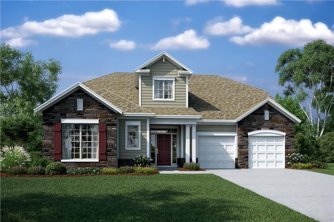 Exterior featured in the Cambridge II By M/I Homes in Charlotte, SC