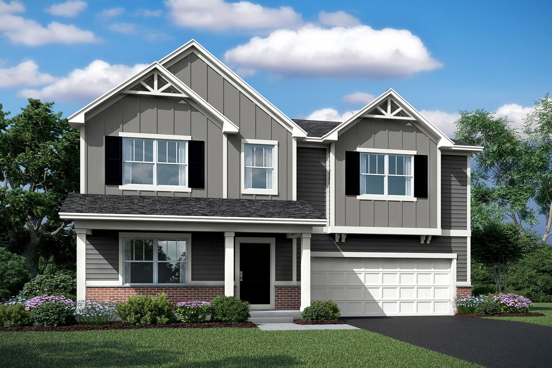 Exterior featured in the Draper By M/I Homes in Charlotte, NC