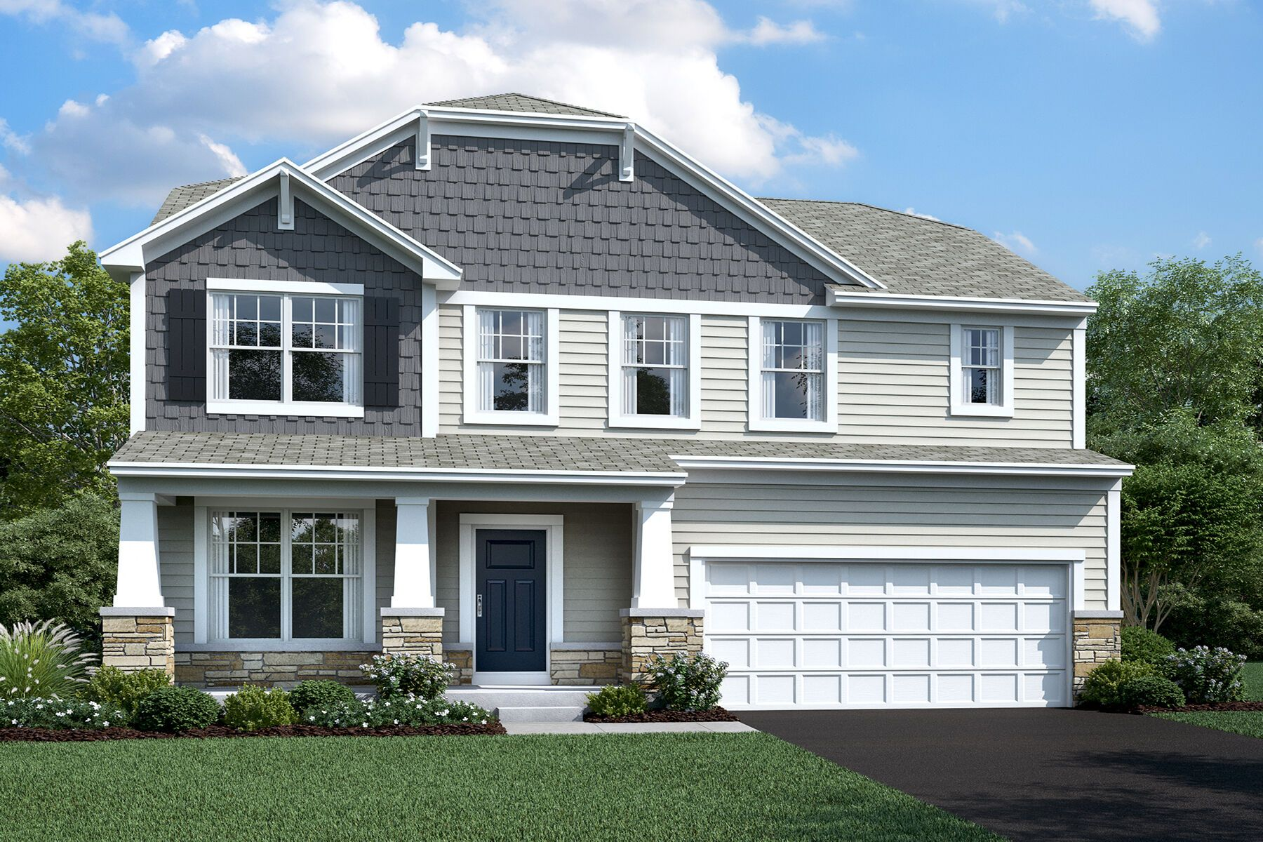 Exterior featured in the Findlay By M/I Homes in Charlotte, NC