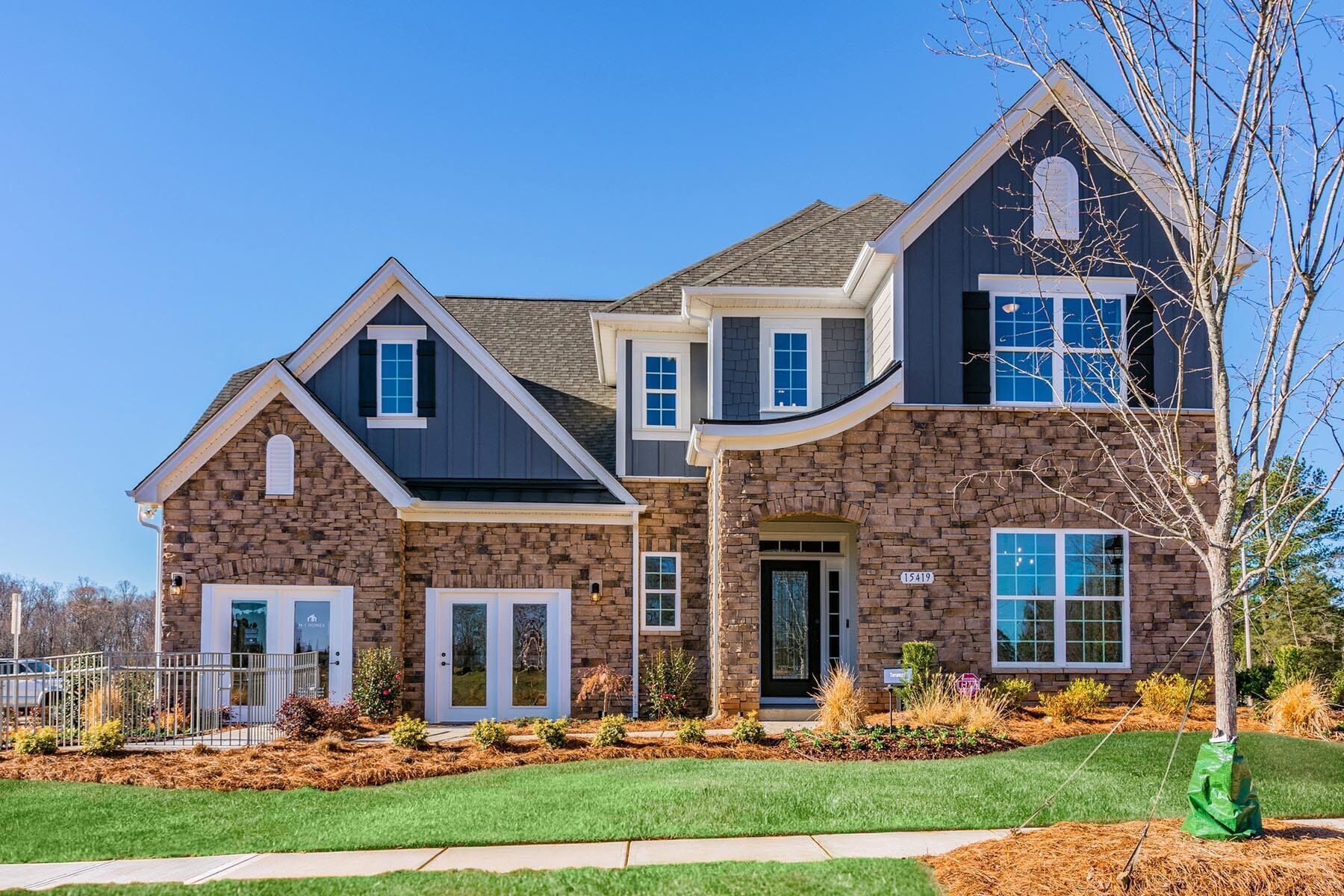 Exterior featured in the Torrance II By M/I Homes in Charlotte, NC