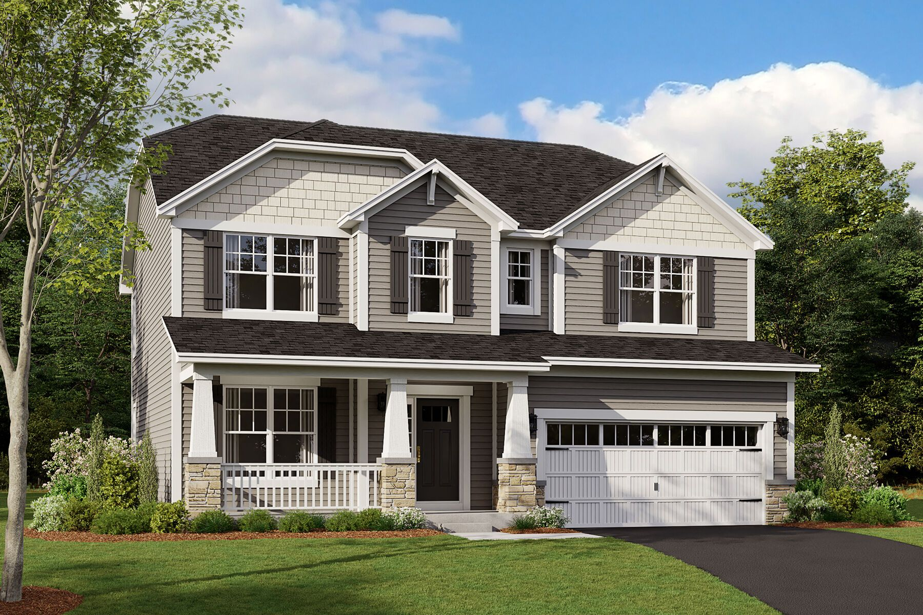 Exterior featured in the Dunbar By M/I Homes in Chicago, IL