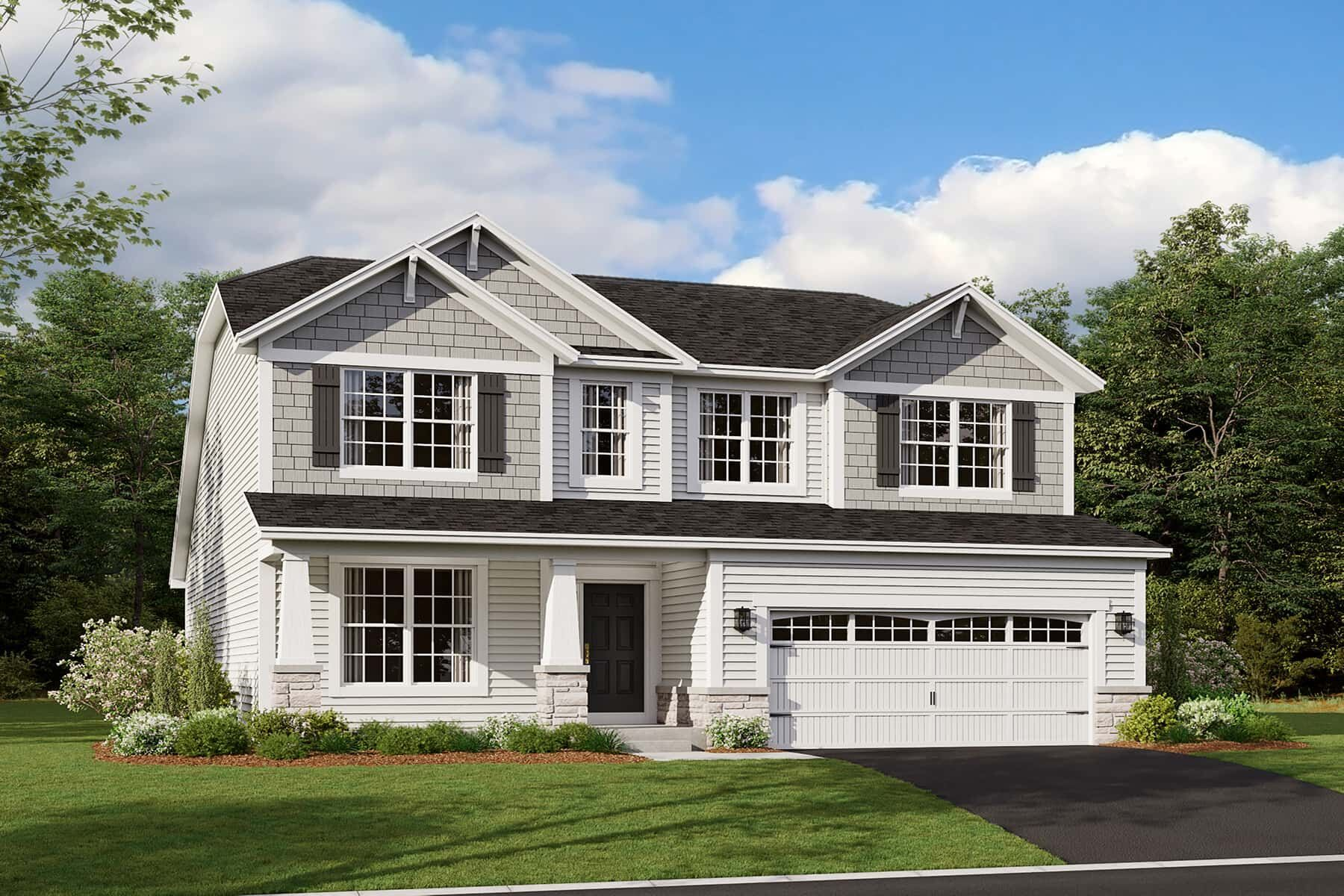 Exterior featured in the Aberdeen By M/I Homes in Chicago, IL