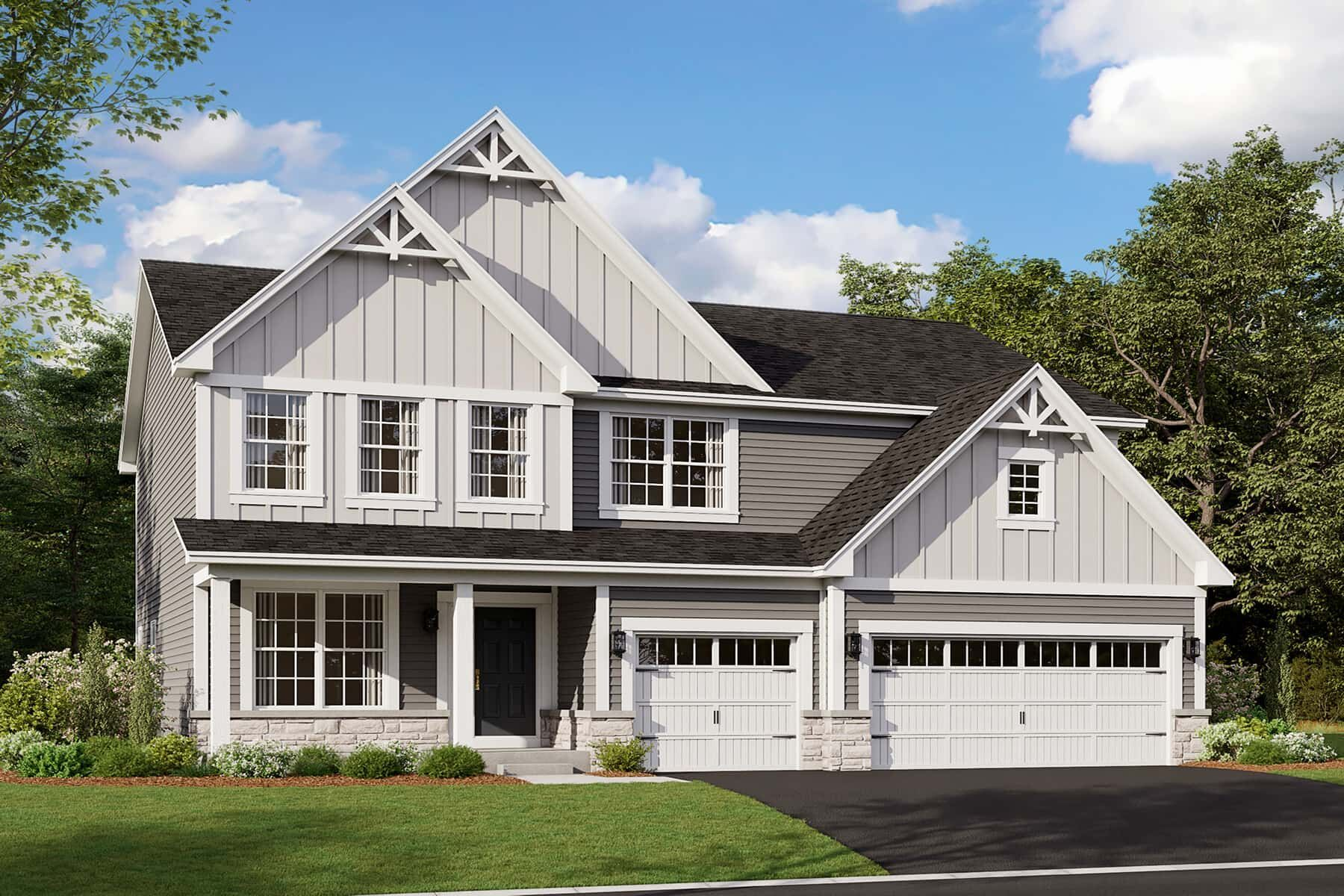 Exterior featured in the Essex By M/I Homes in Chicago, IL