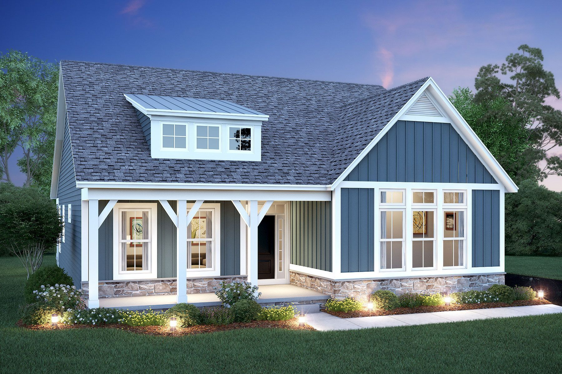 Exterior featured in the Charleston By M/I Homes in Columbus, OH