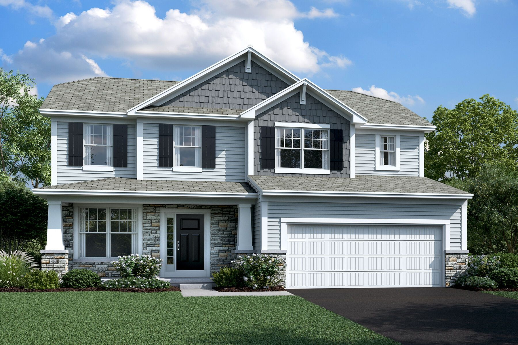 Exterior featured in the Dearborn By M/I Homes in Columbus, OH