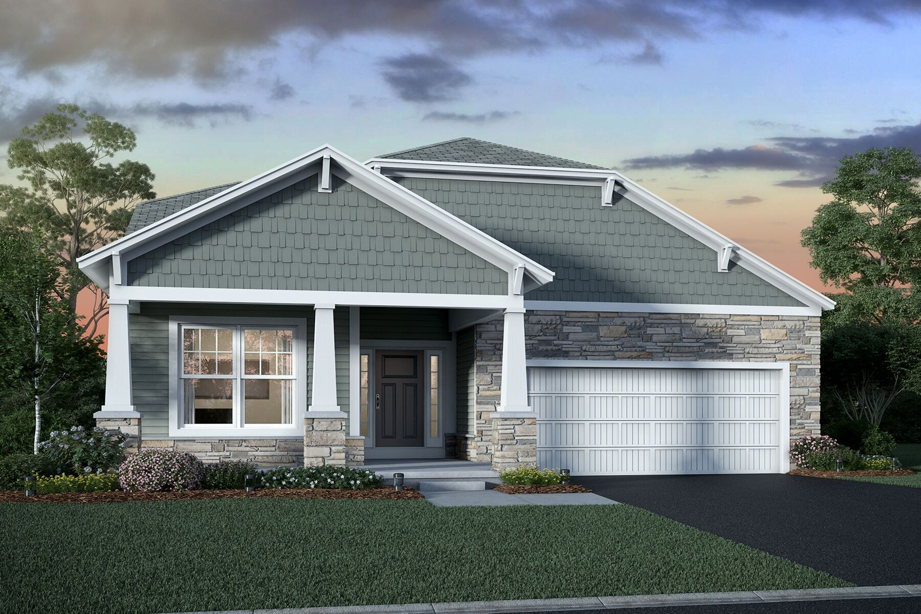 Exterior featured in the Fremont By M/I Homes in Columbus, OH