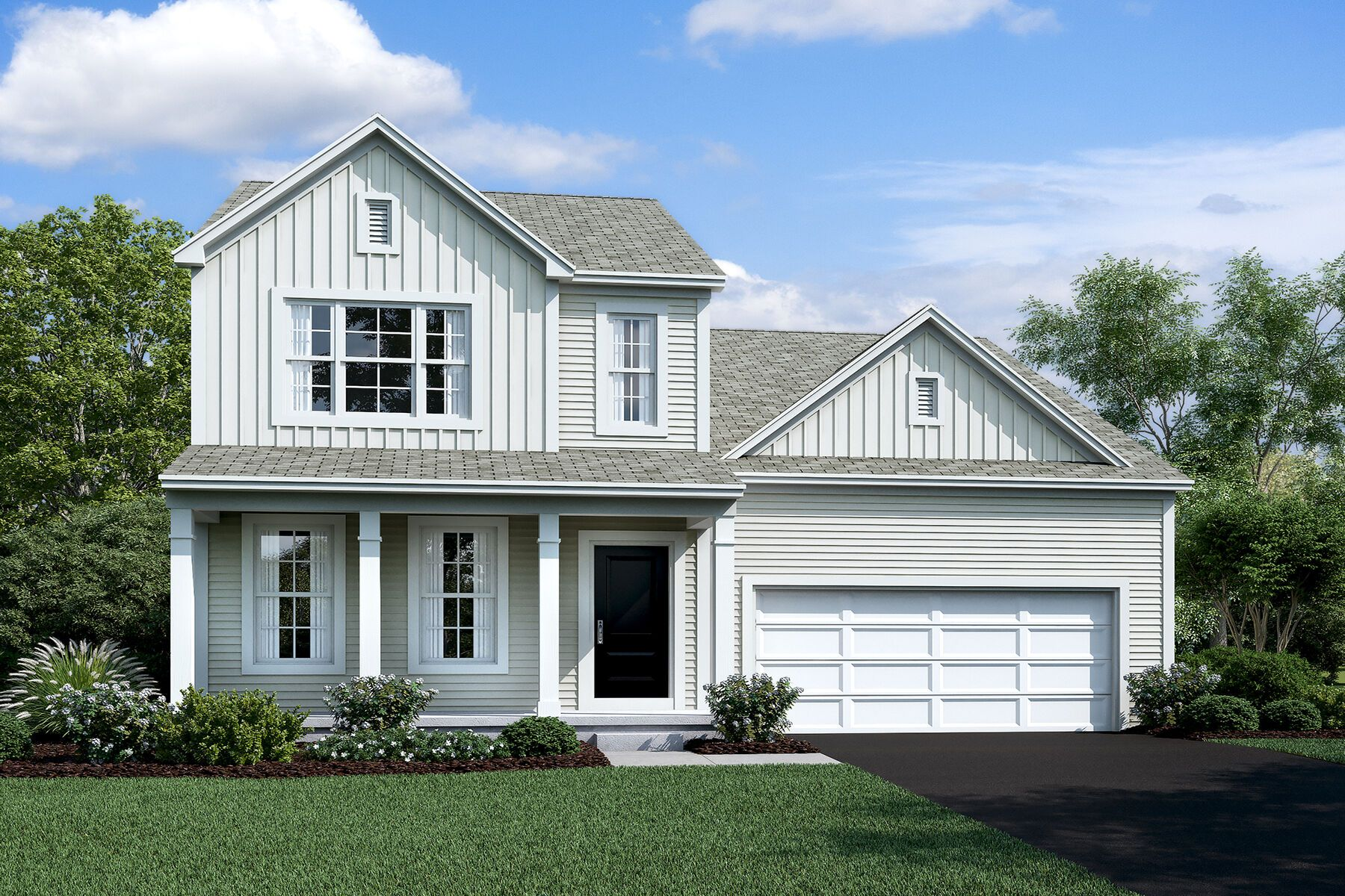 Exterior featured in the Hilliard By M/I Homes in Columbus, OH