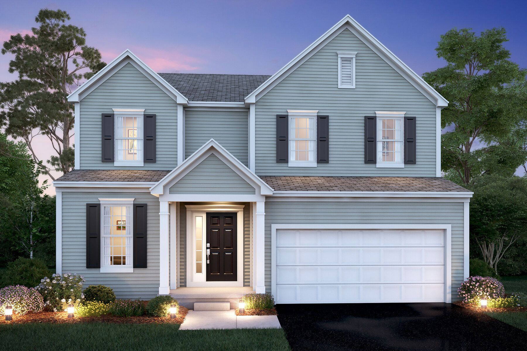 Exterior featured in the Madison By M/I Homes in Columbus, OH
