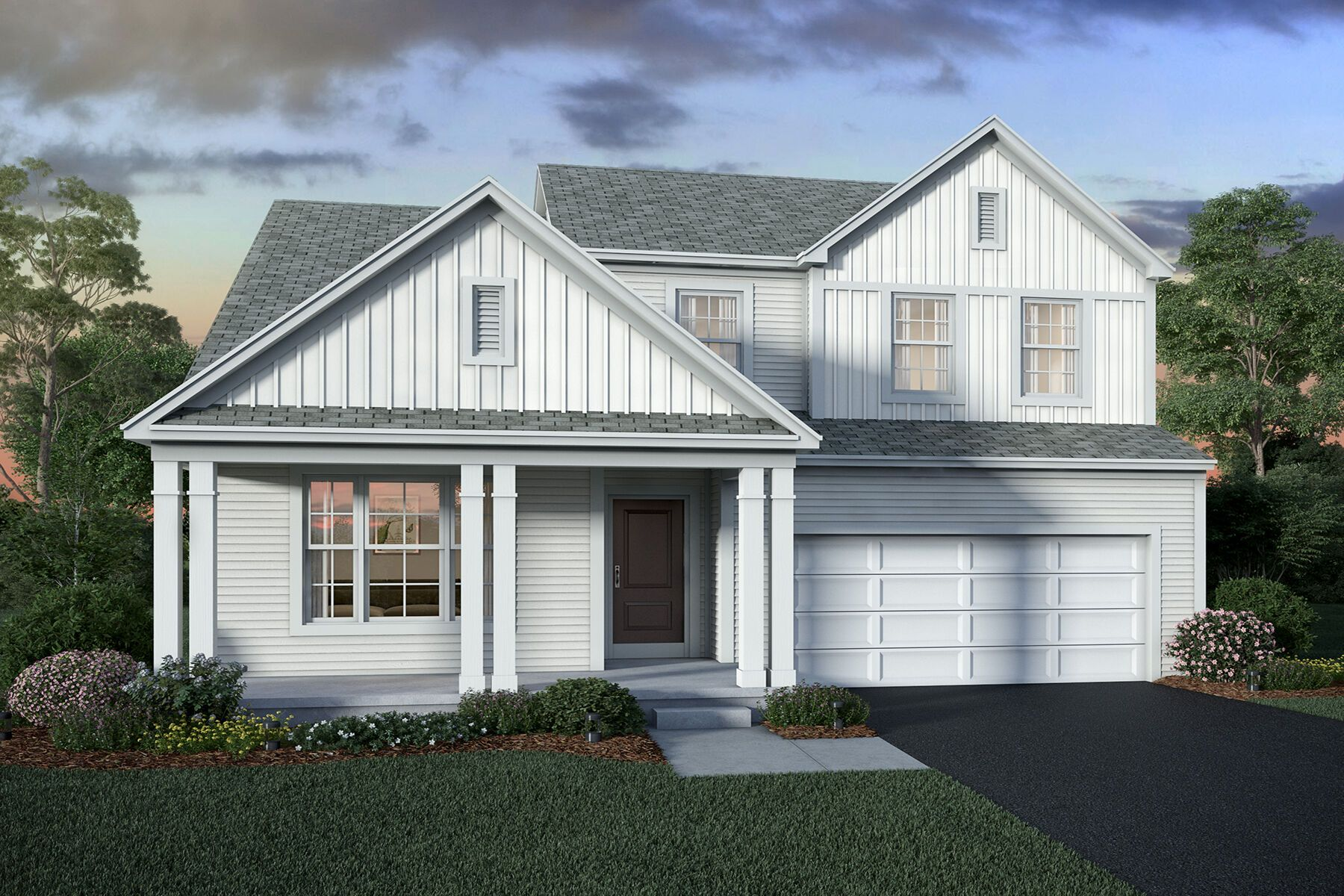 Exterior featured in the Worthington By M/I Homes in Columbus, OH
