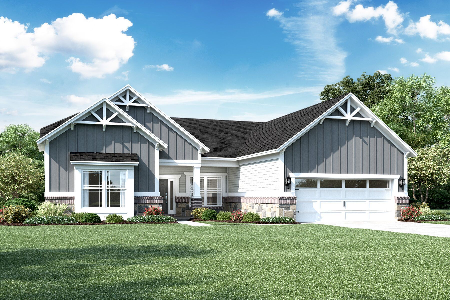 Exterior featured in the Cheswicke Slab By M/I Homes in Indianapolis, IN