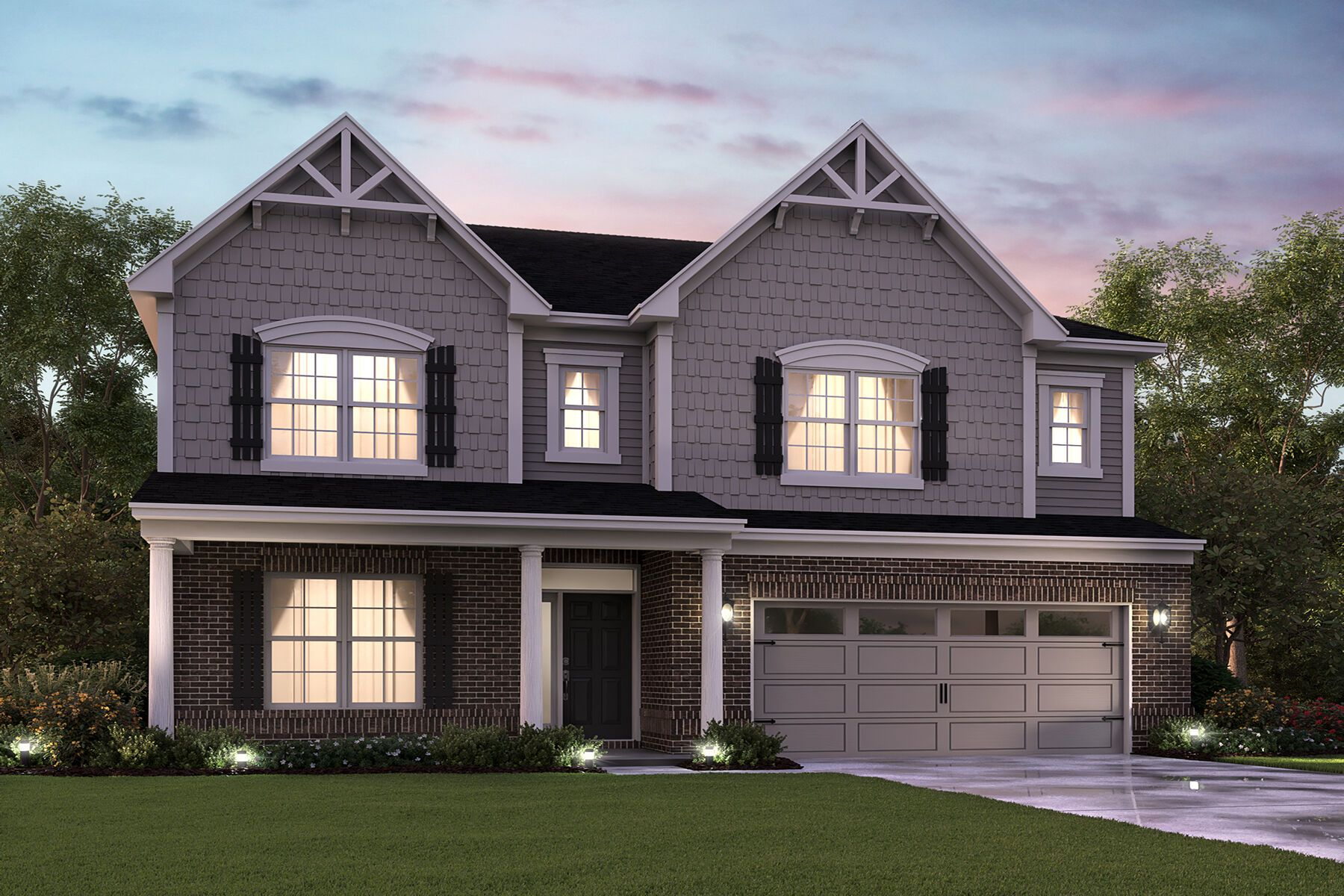 Exterior featured in the Glendale Basement By M/I Homes in Indianapolis, IN