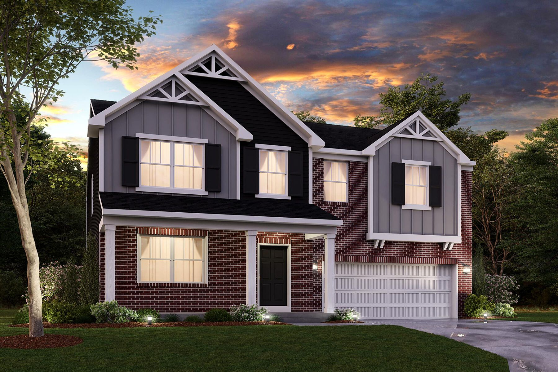 Exterior featured in the Chauncey Slab By M/I Homes in Indianapolis, IN