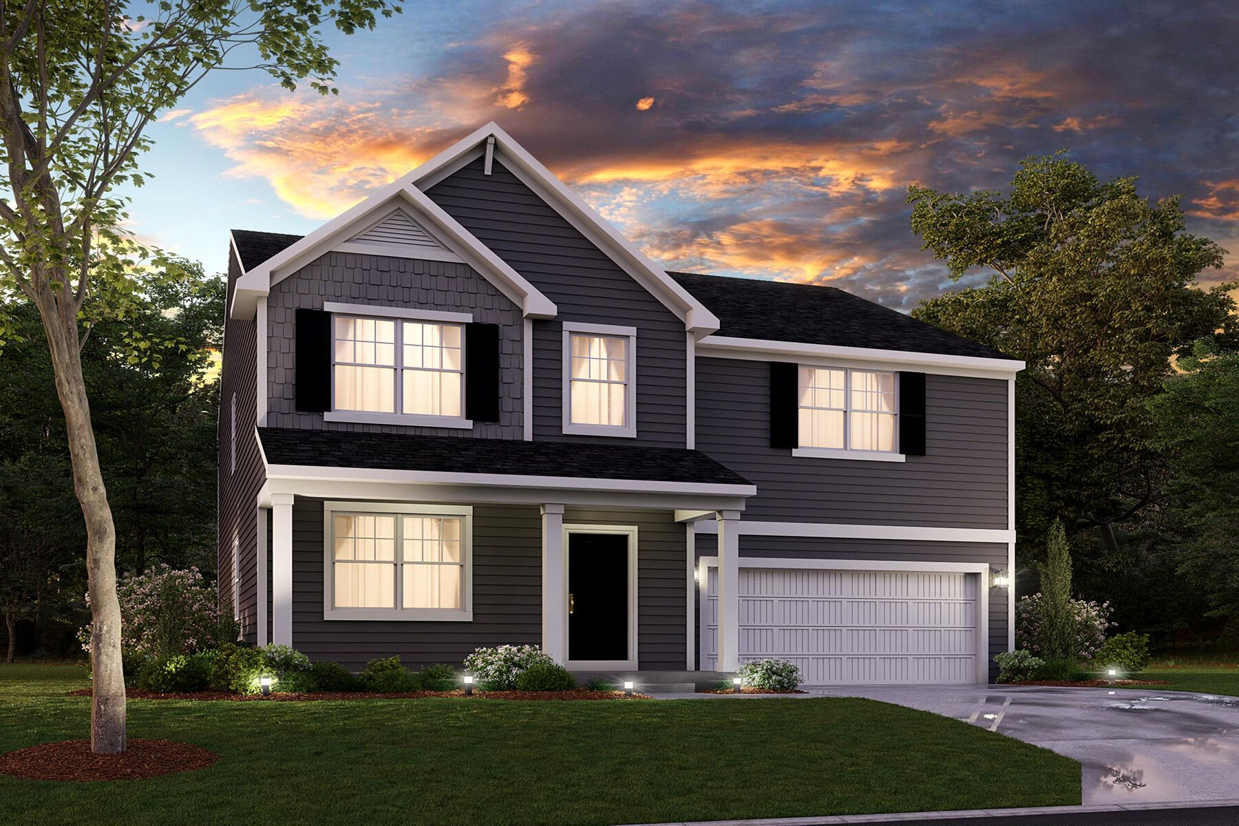 Exterior featured in the Fairbanks Slab By M/I Homes in Indianapolis, IN