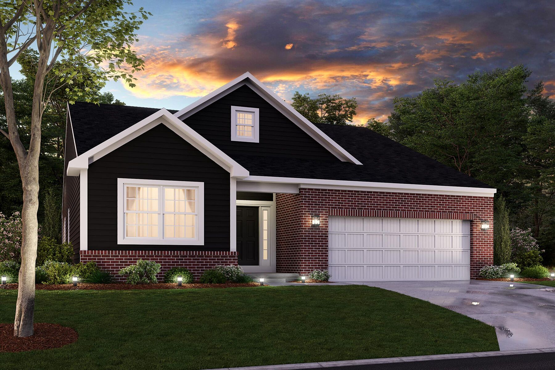 Exterior featured in the Mackey Slab By M/I Homes in Indianapolis, IN