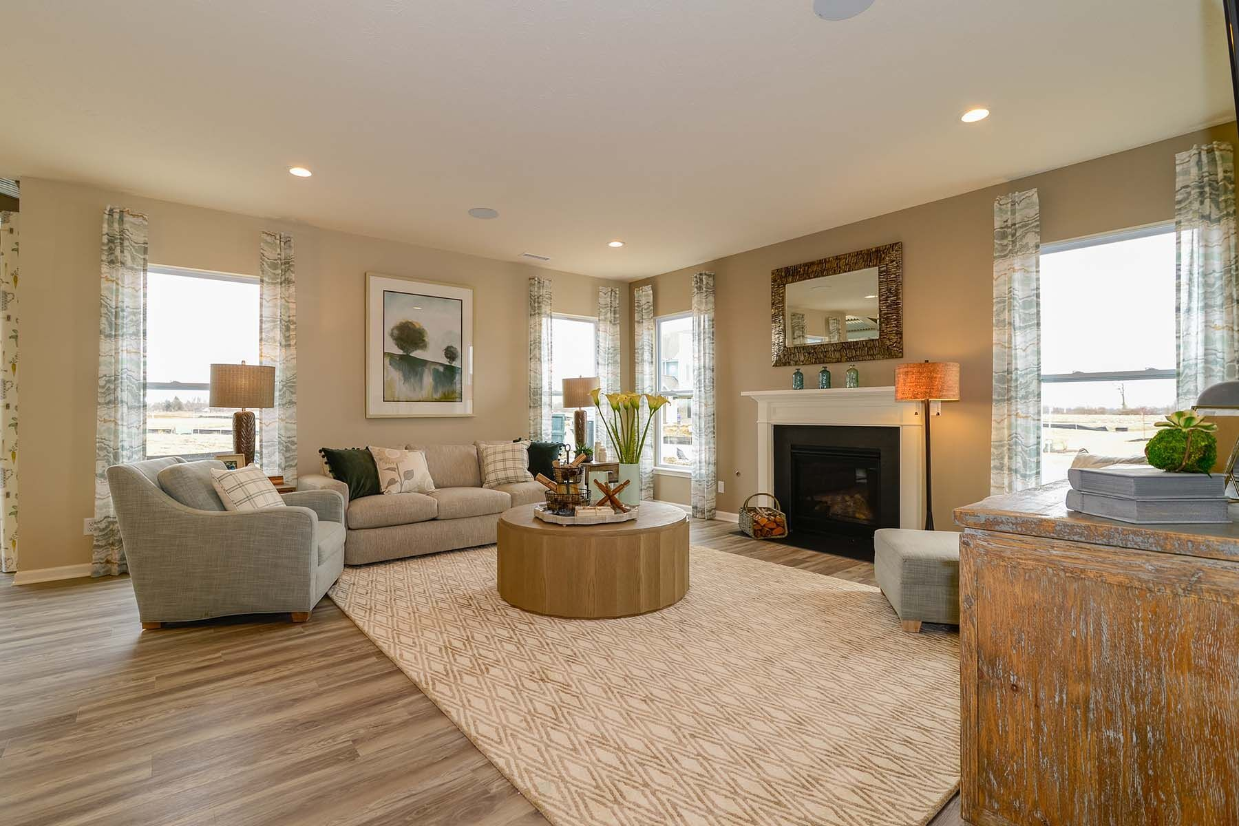 Living Area featured in the Chauncey Slab By M/I Homes in Indianapolis, IN