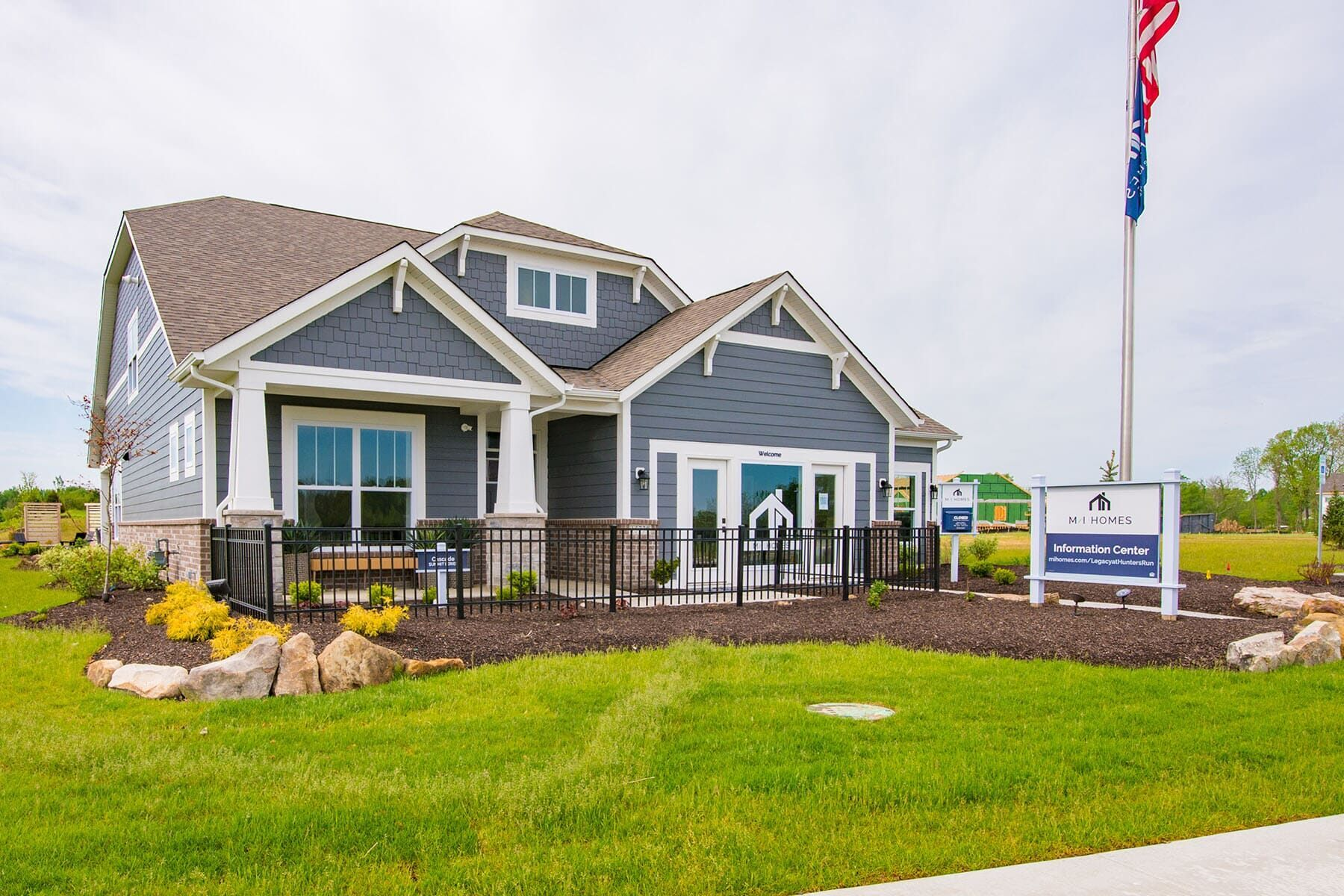 Exterior featured in the Cascade C Slab By M/I Homes in Indianapolis, IN