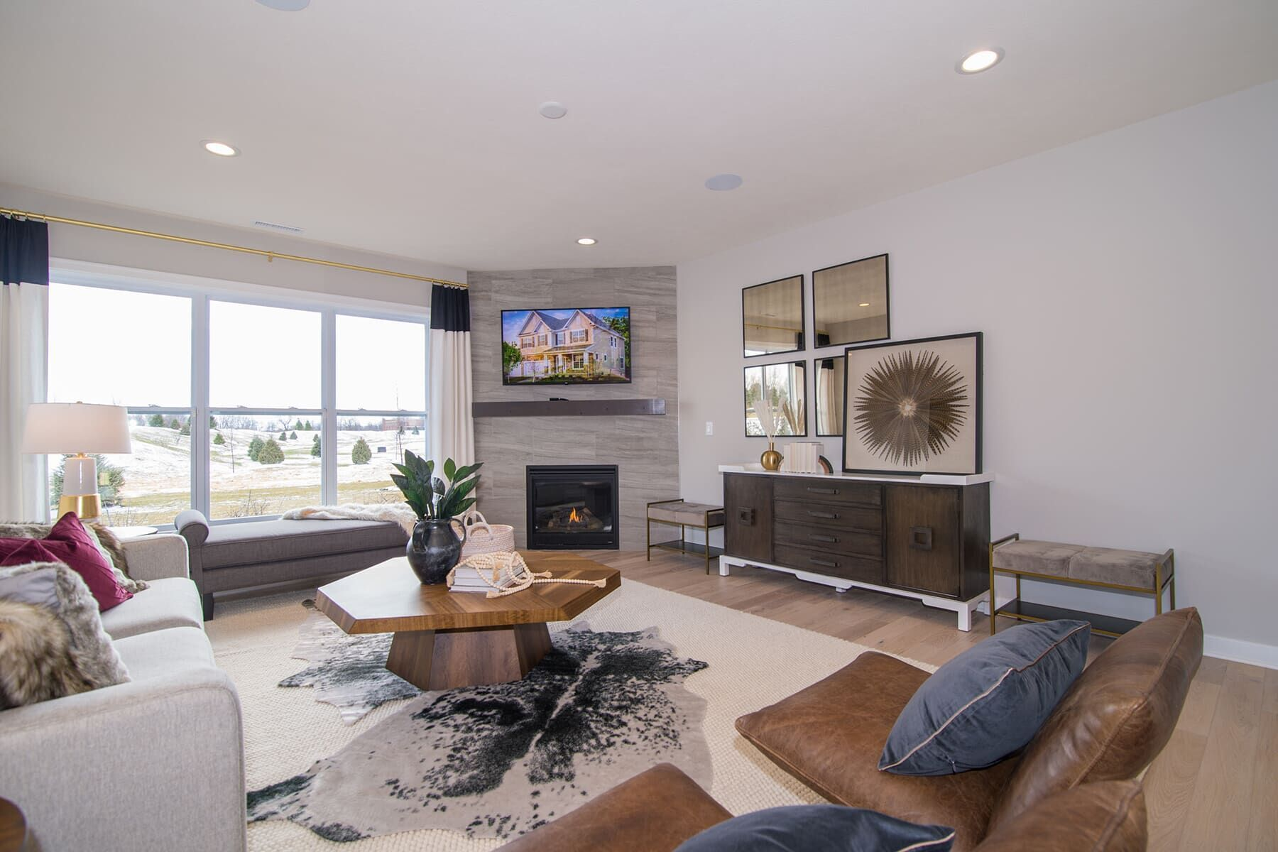 Living Area featured in the Cascade C Slab By M/I Homes in Indianapolis, IN
