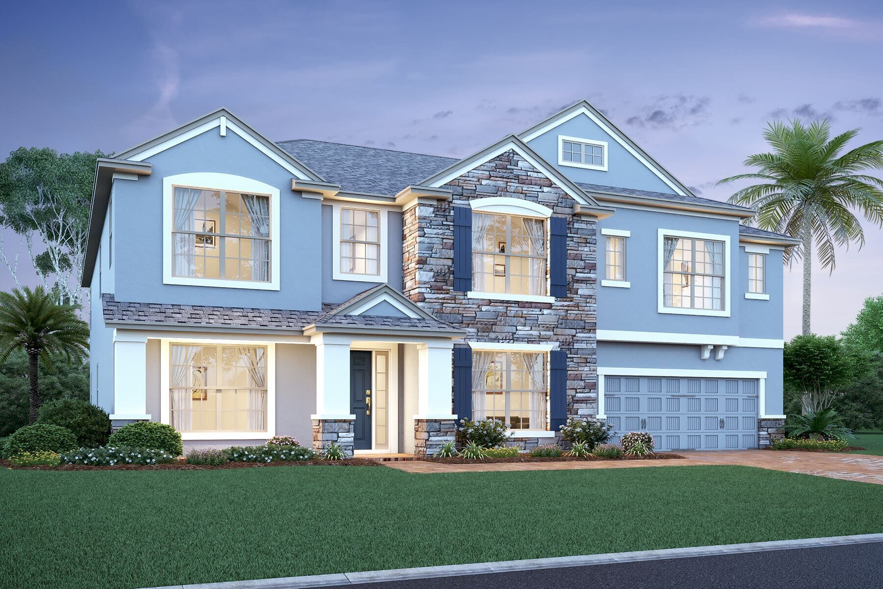 Exterior featured in the Grandview Fl By M/I Homes in Orlando, FL
