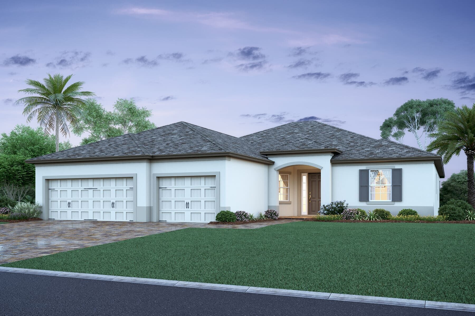Exterior featured in the Savannah II By M/I Homes in Orlando, FL